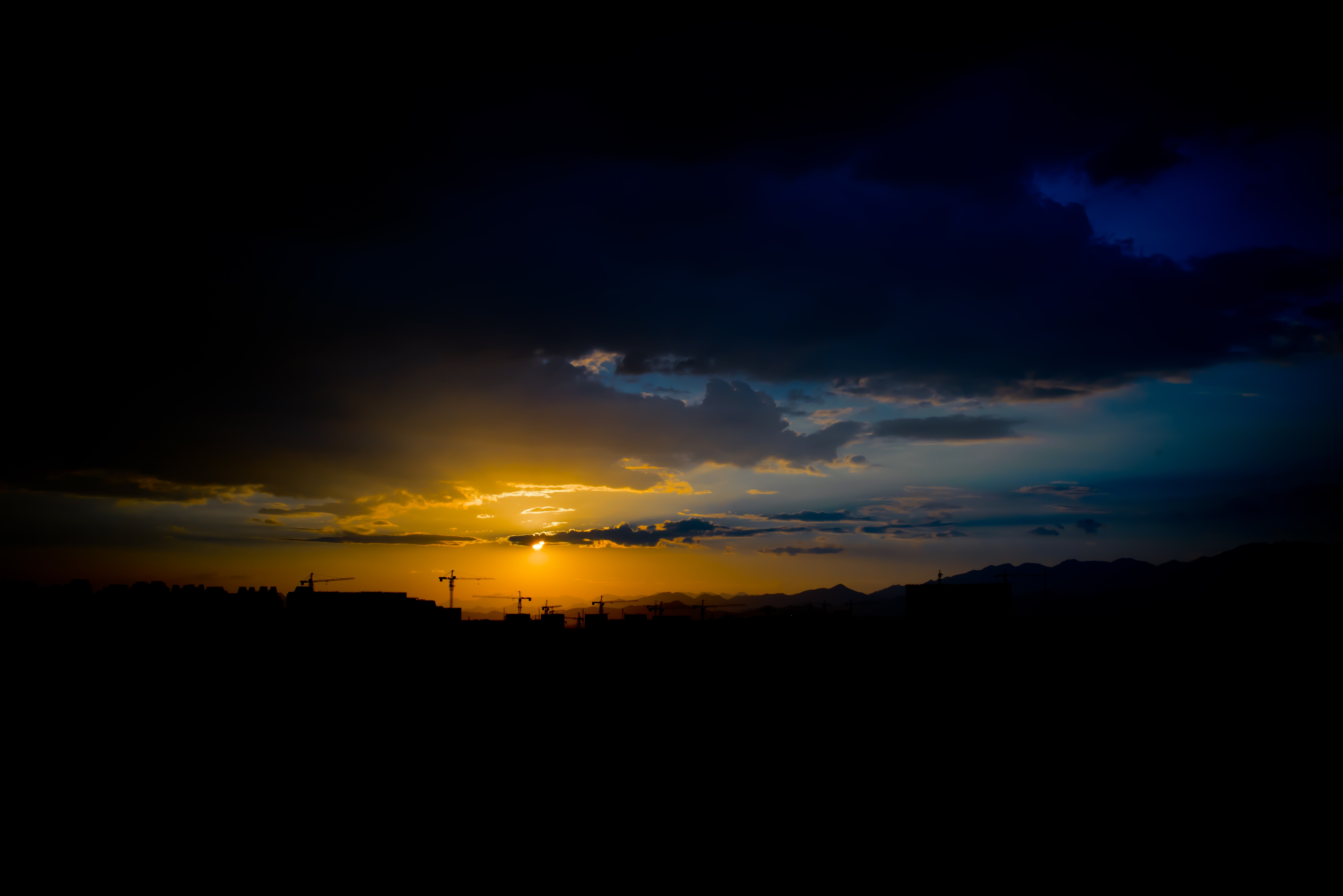 landscape photography of sunset