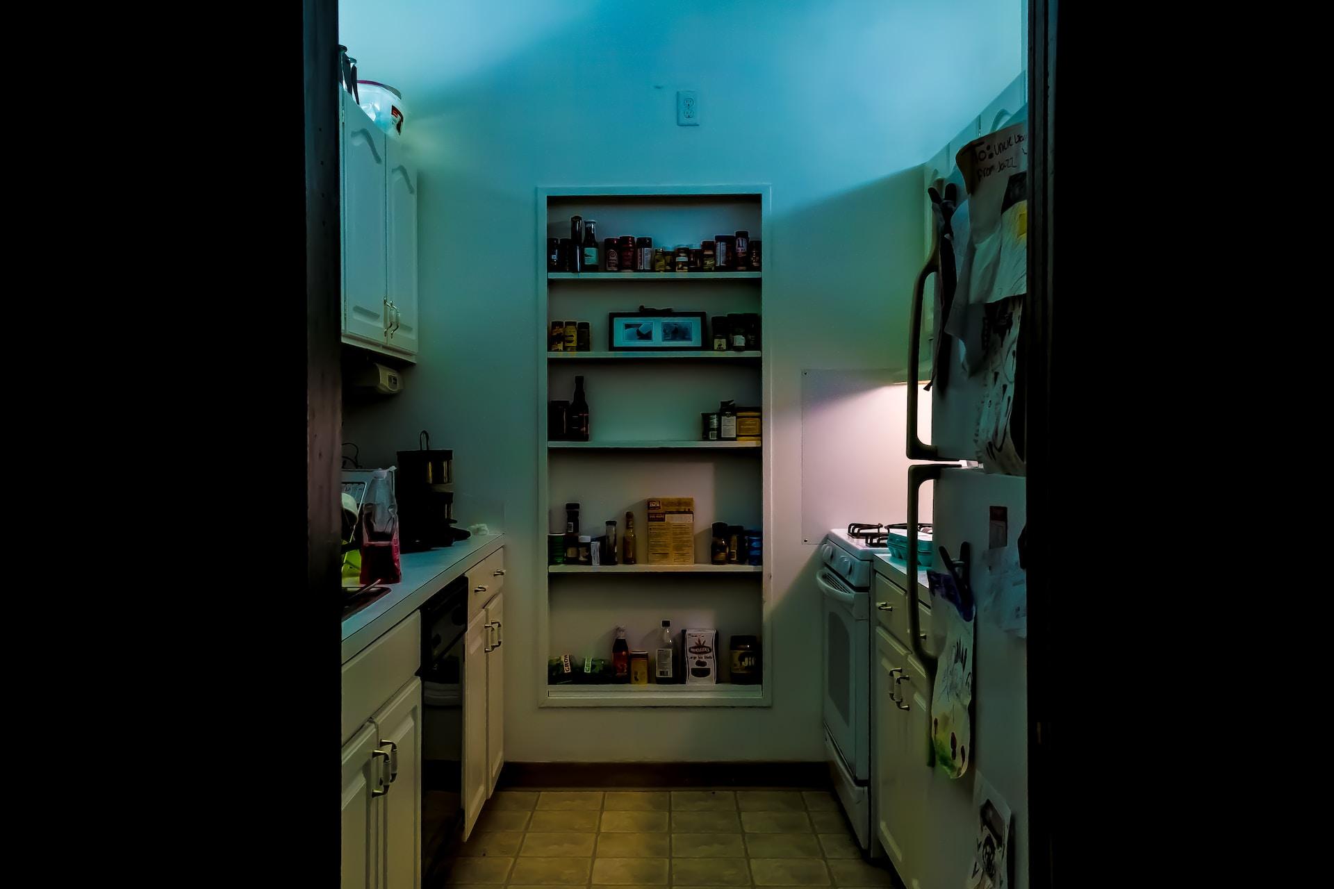 white wooden shelf organizer