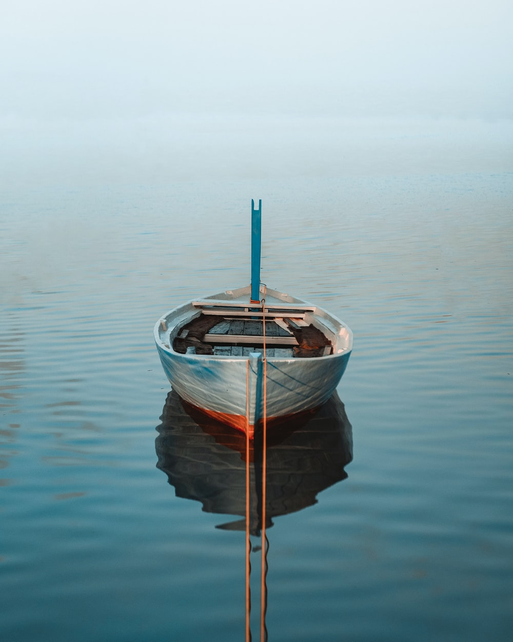 white boat surrounded by body of water