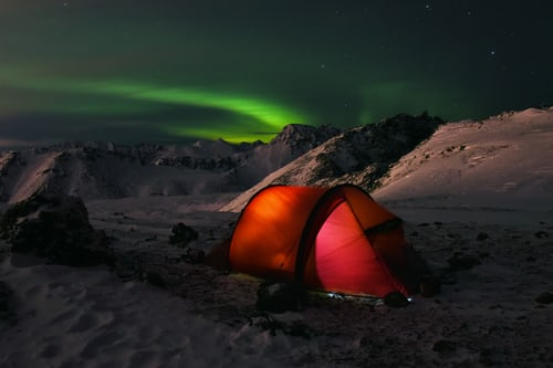 Northern Light camps in Sweden
