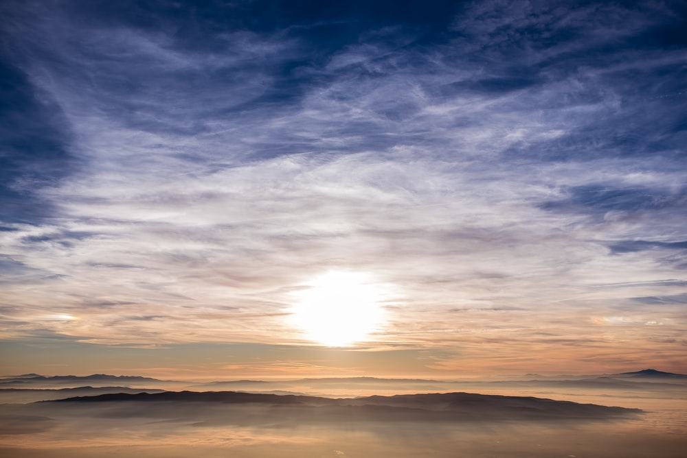 panoramic photography of sunrise