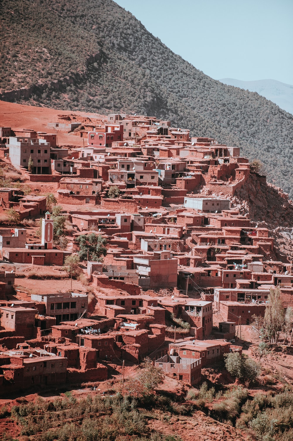 villages in edge of mountain