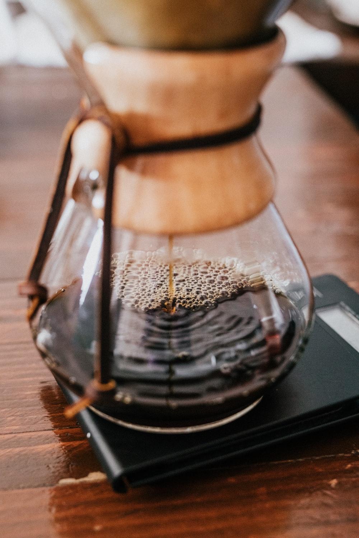 clear glass coffee jar