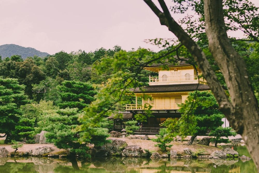 house standing on riverside