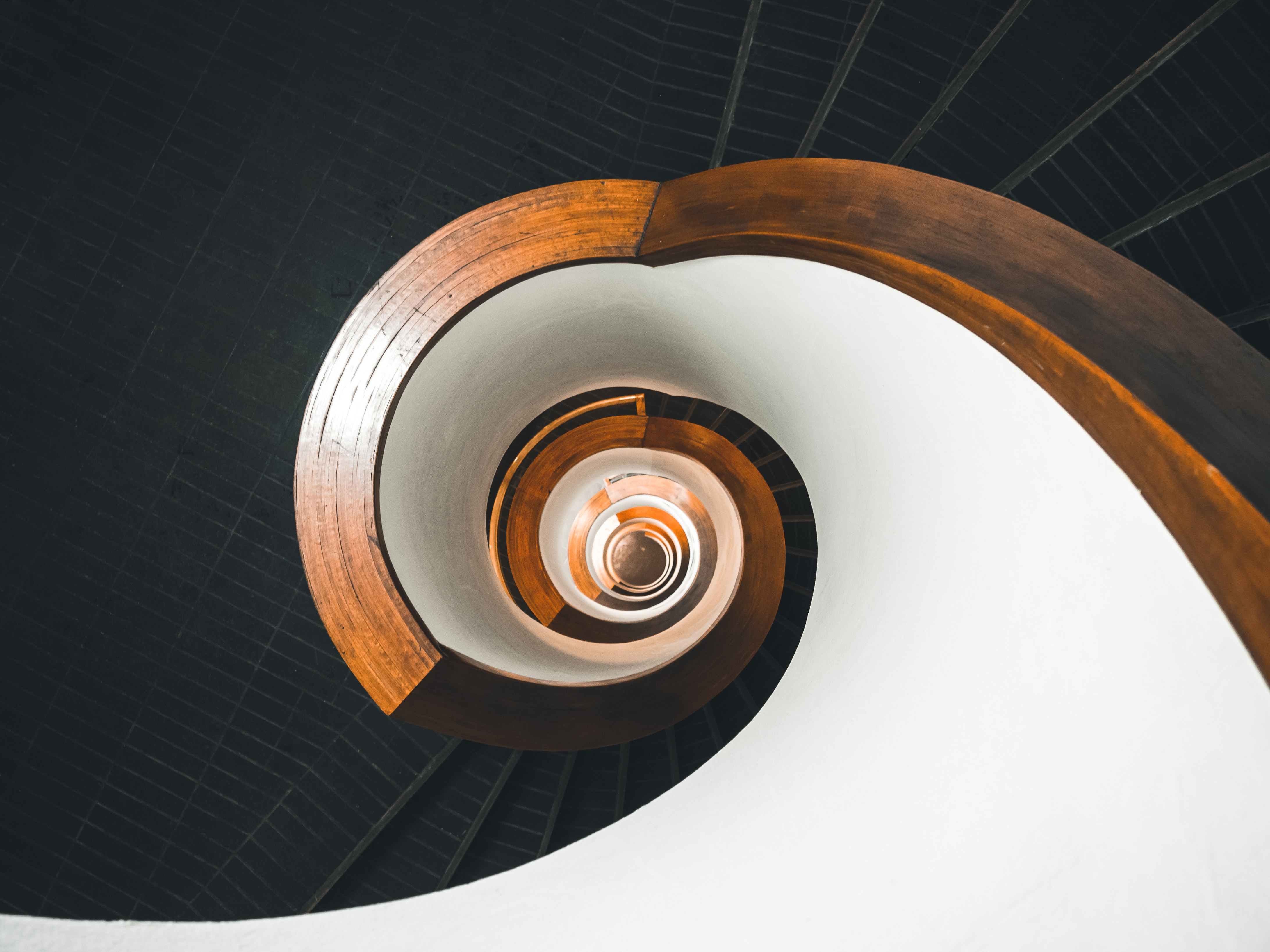 photo showing spiral staircase