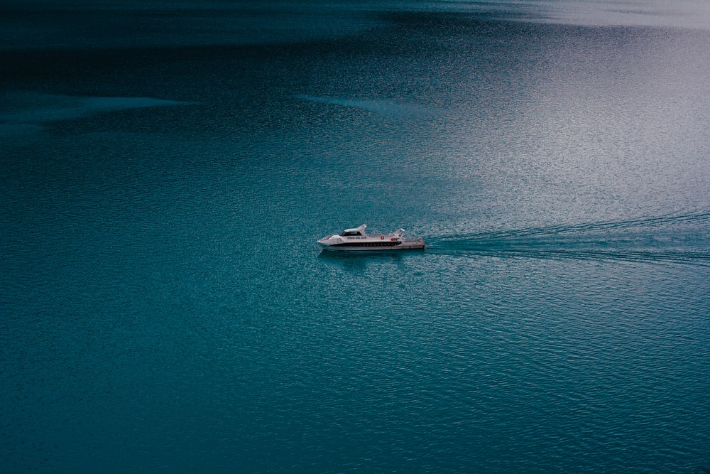 aerial view photography cruise ship