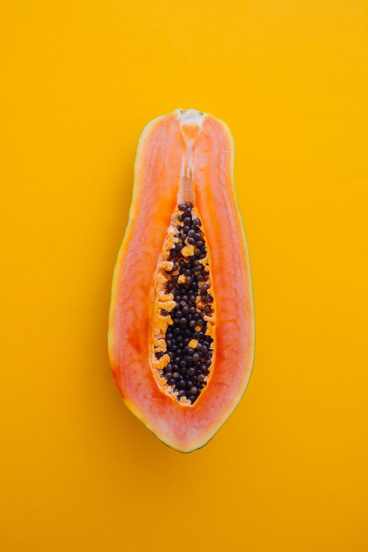 orange sliced papaya