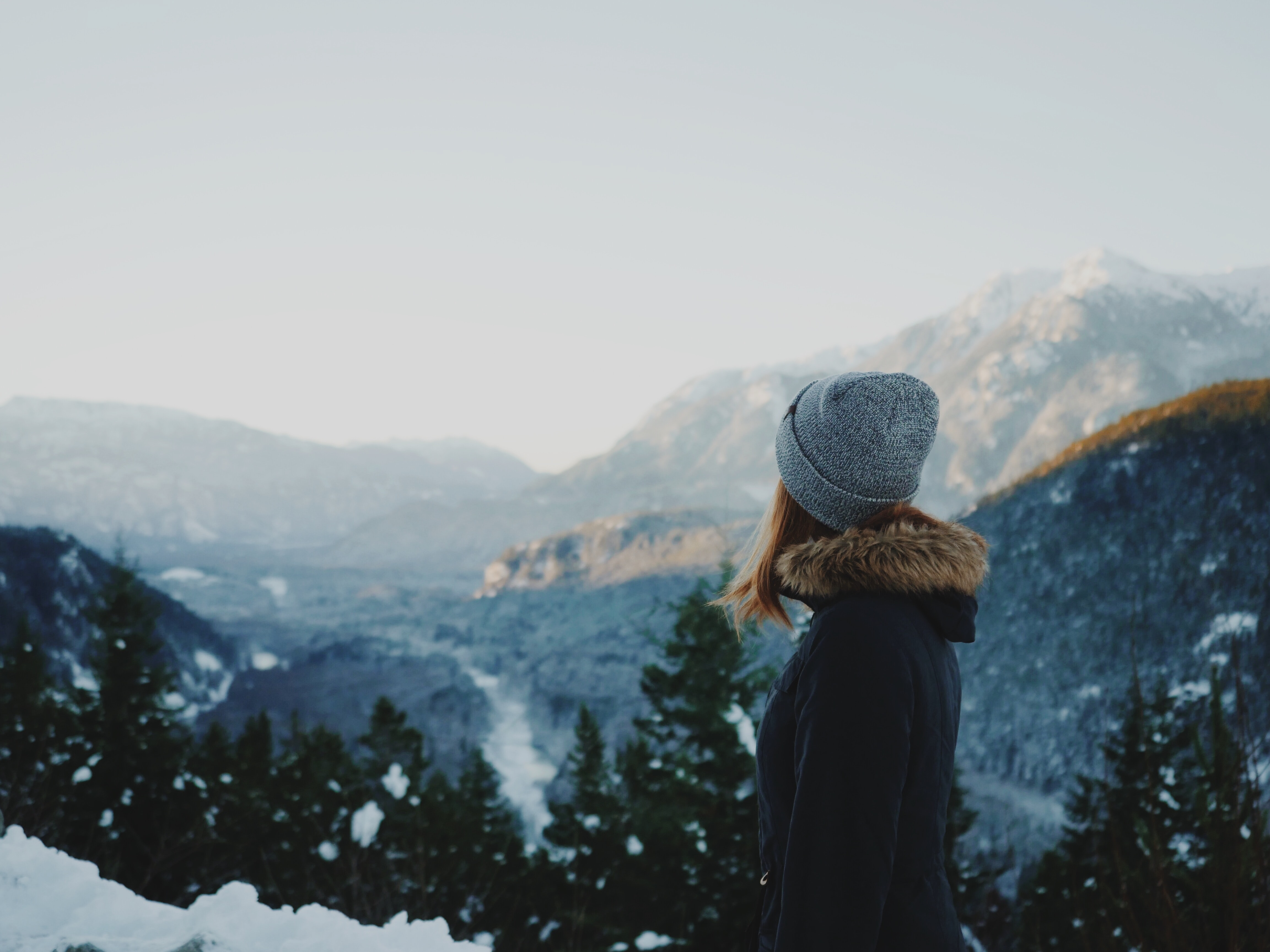 woman standing on snowfield