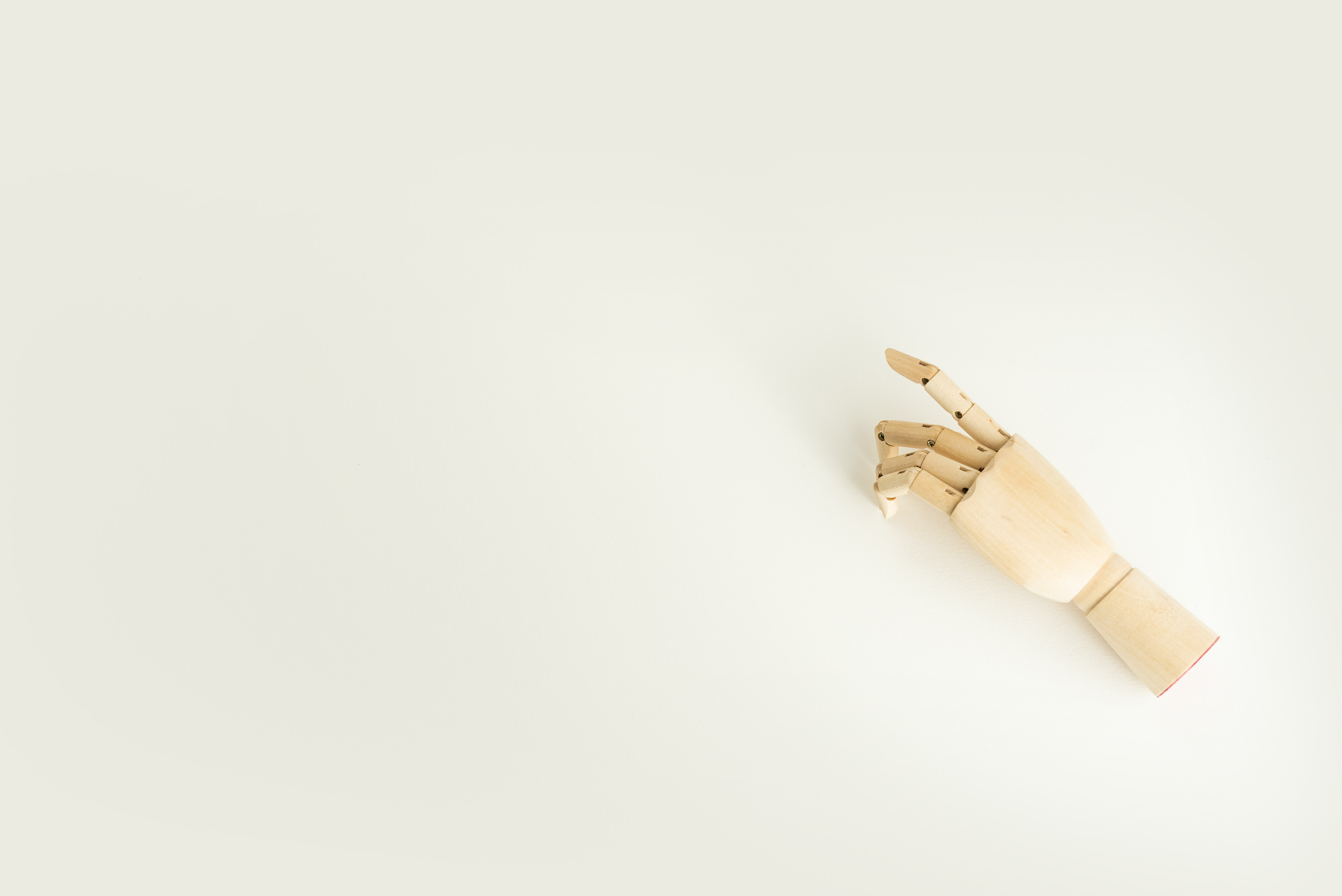brown wooden hand mannequin