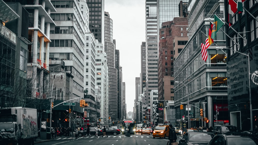 road and buildings