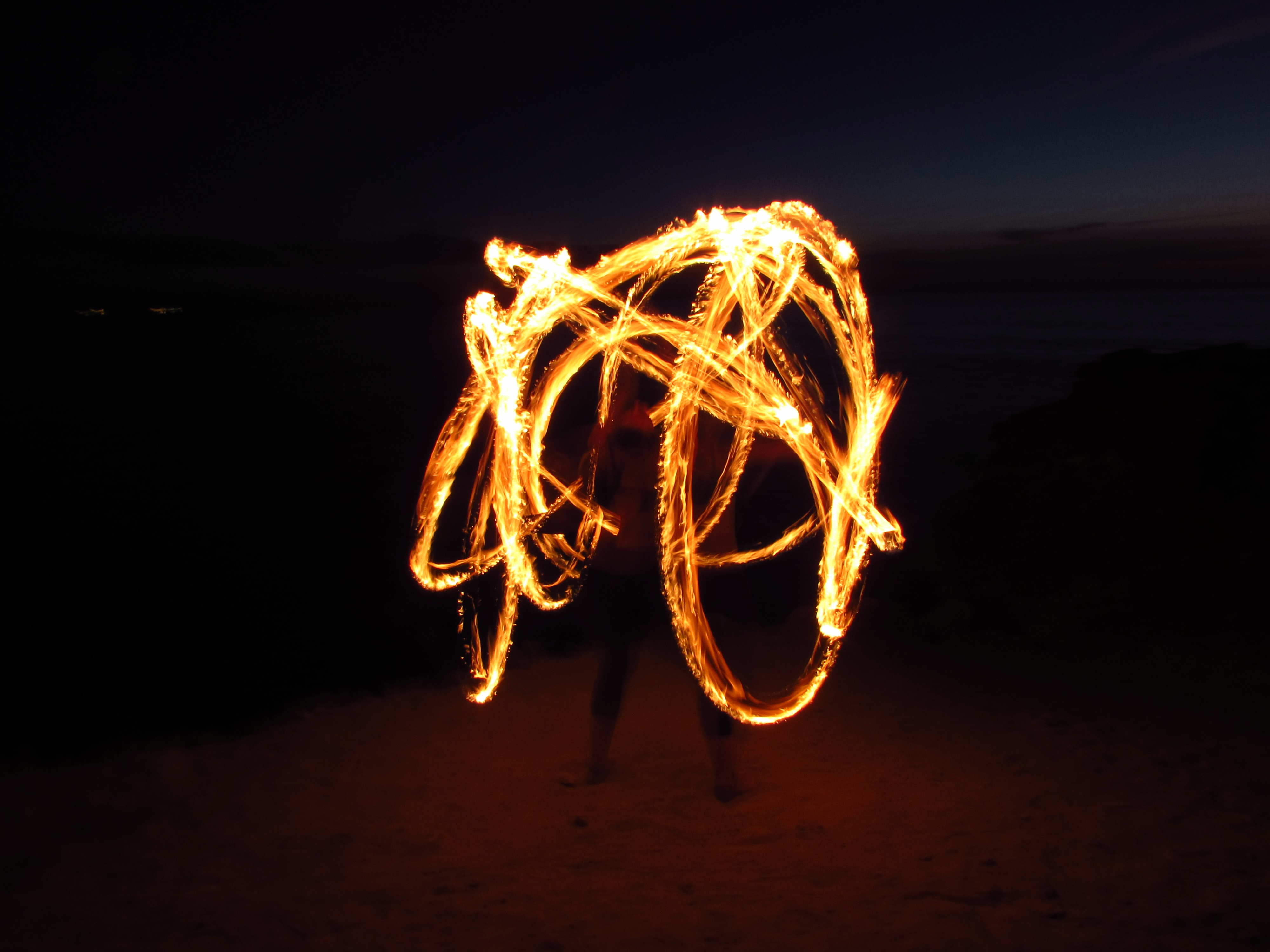 person standing steel wool photography
