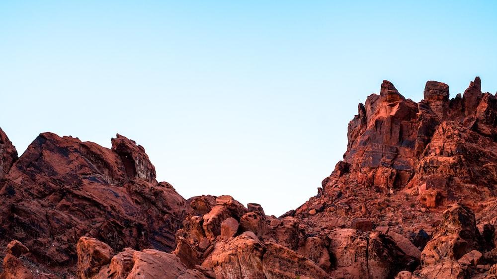 rocky mountain under clear sky