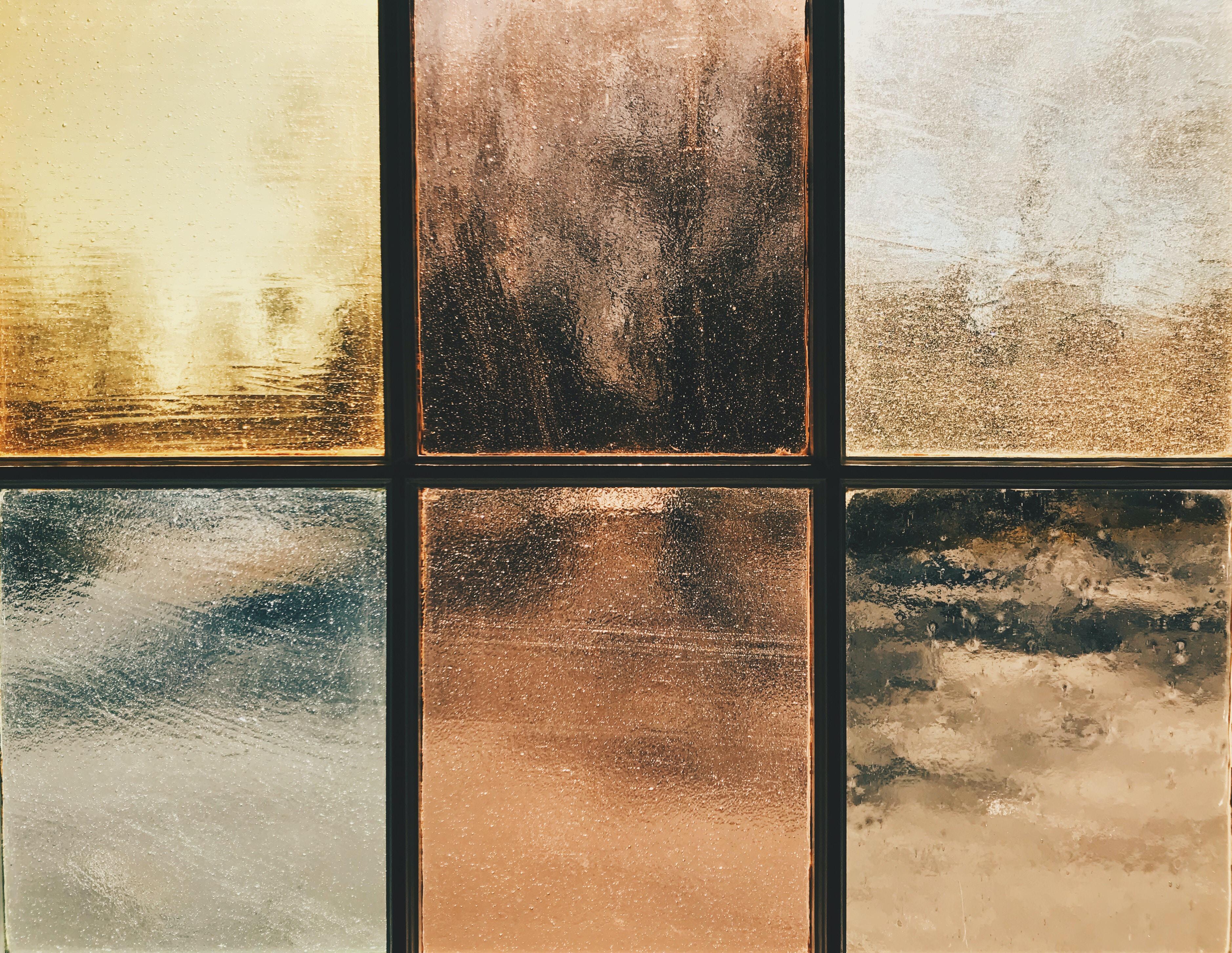 several assorted-color glass frames
