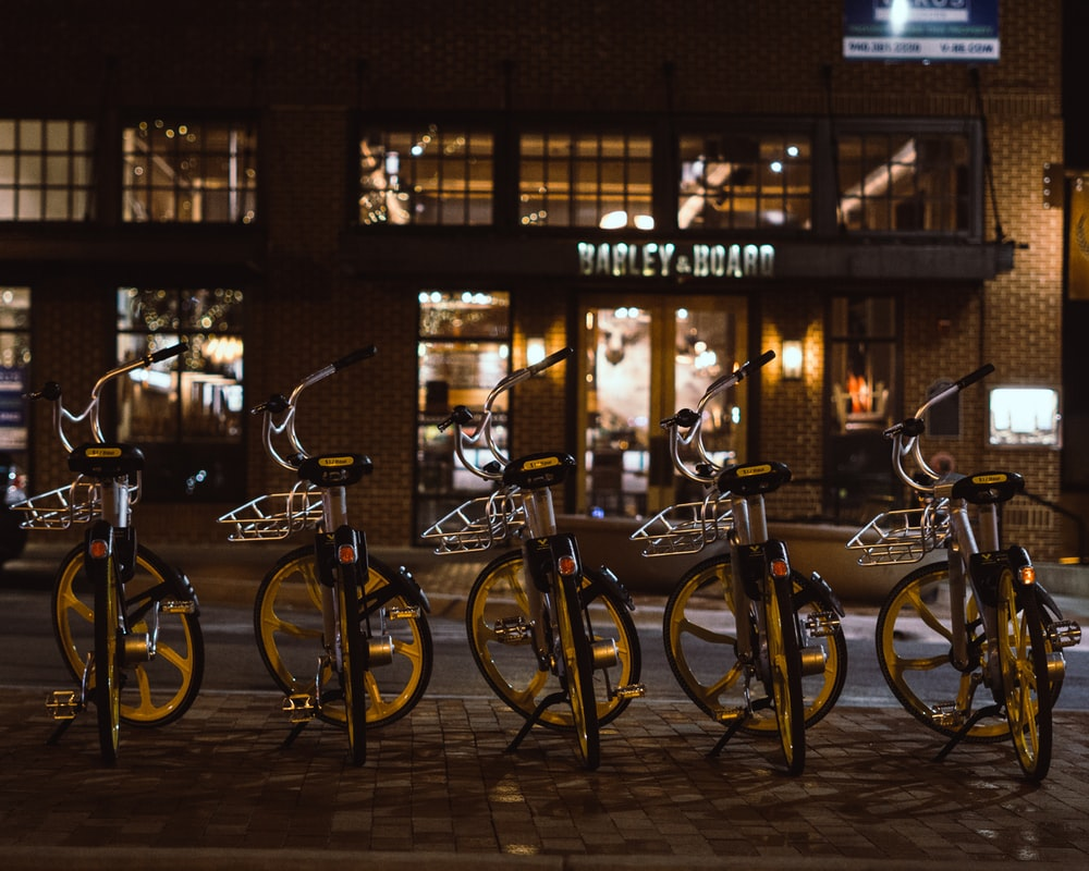 five cruiser bicycles