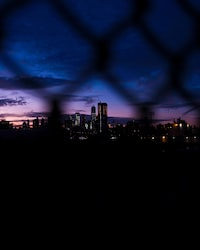 gray chain fence displaying cityscape