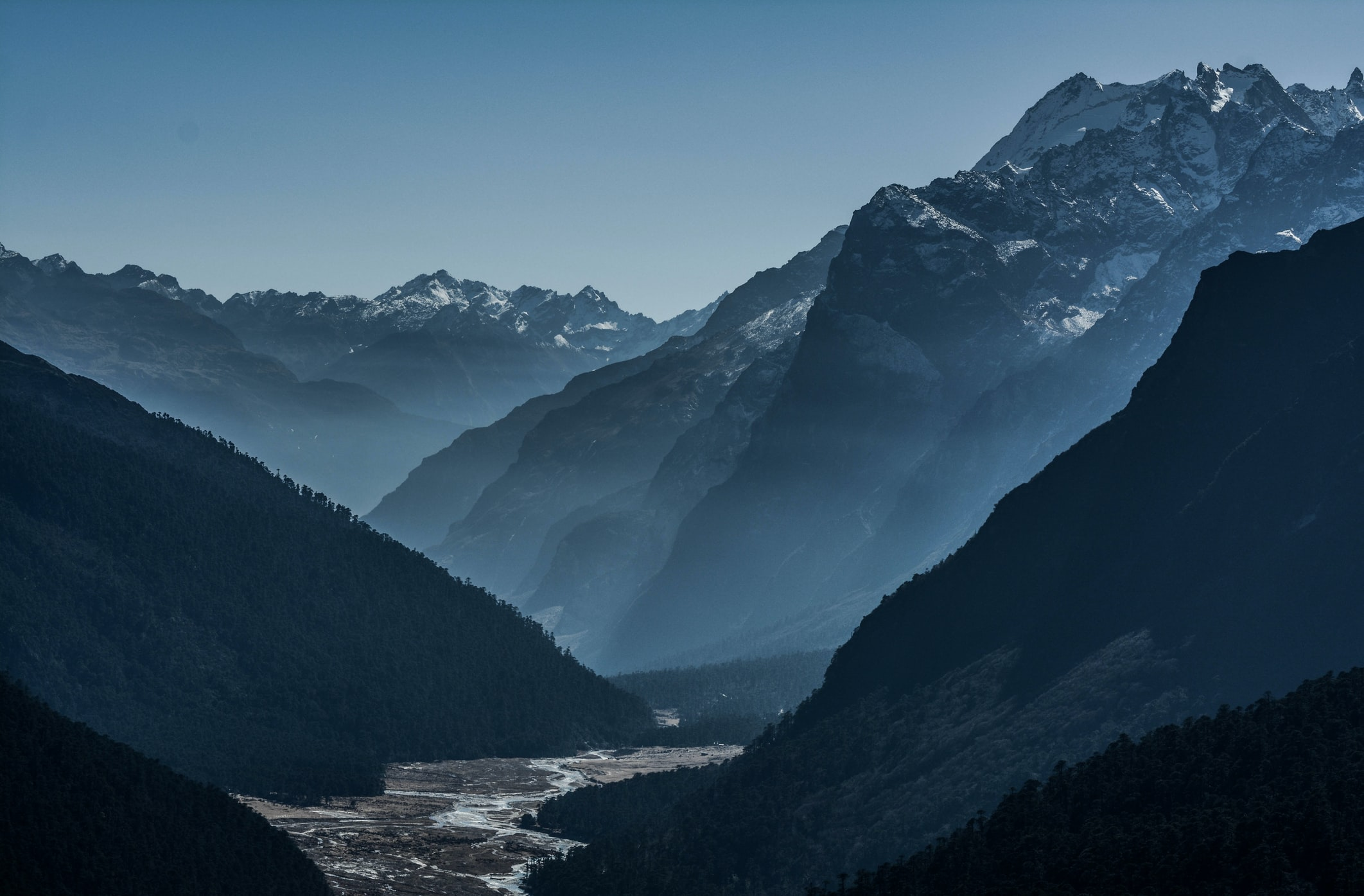 The mountains of Sikkim, one of the seven sister states