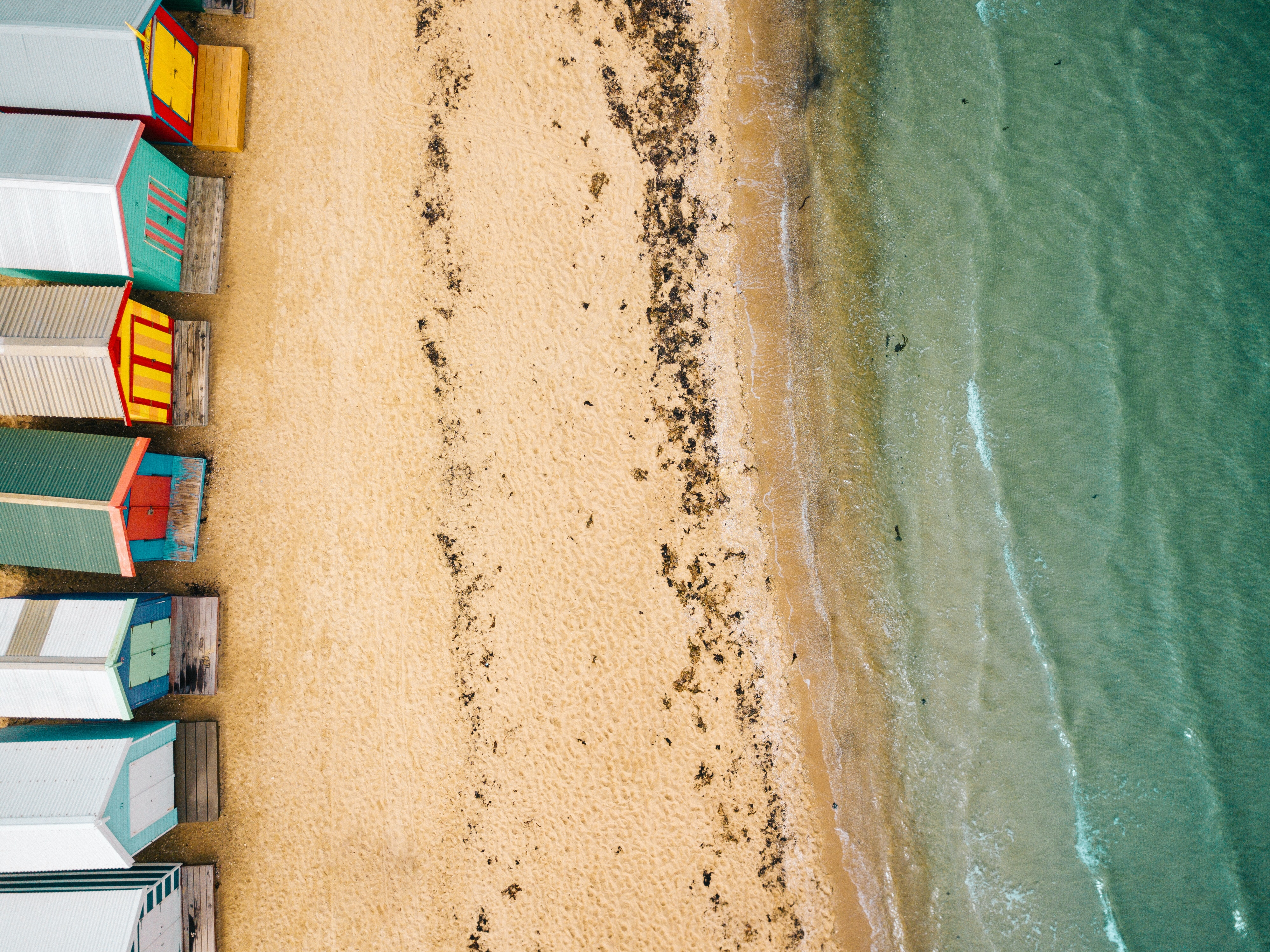 aerial photography of beach at daytime