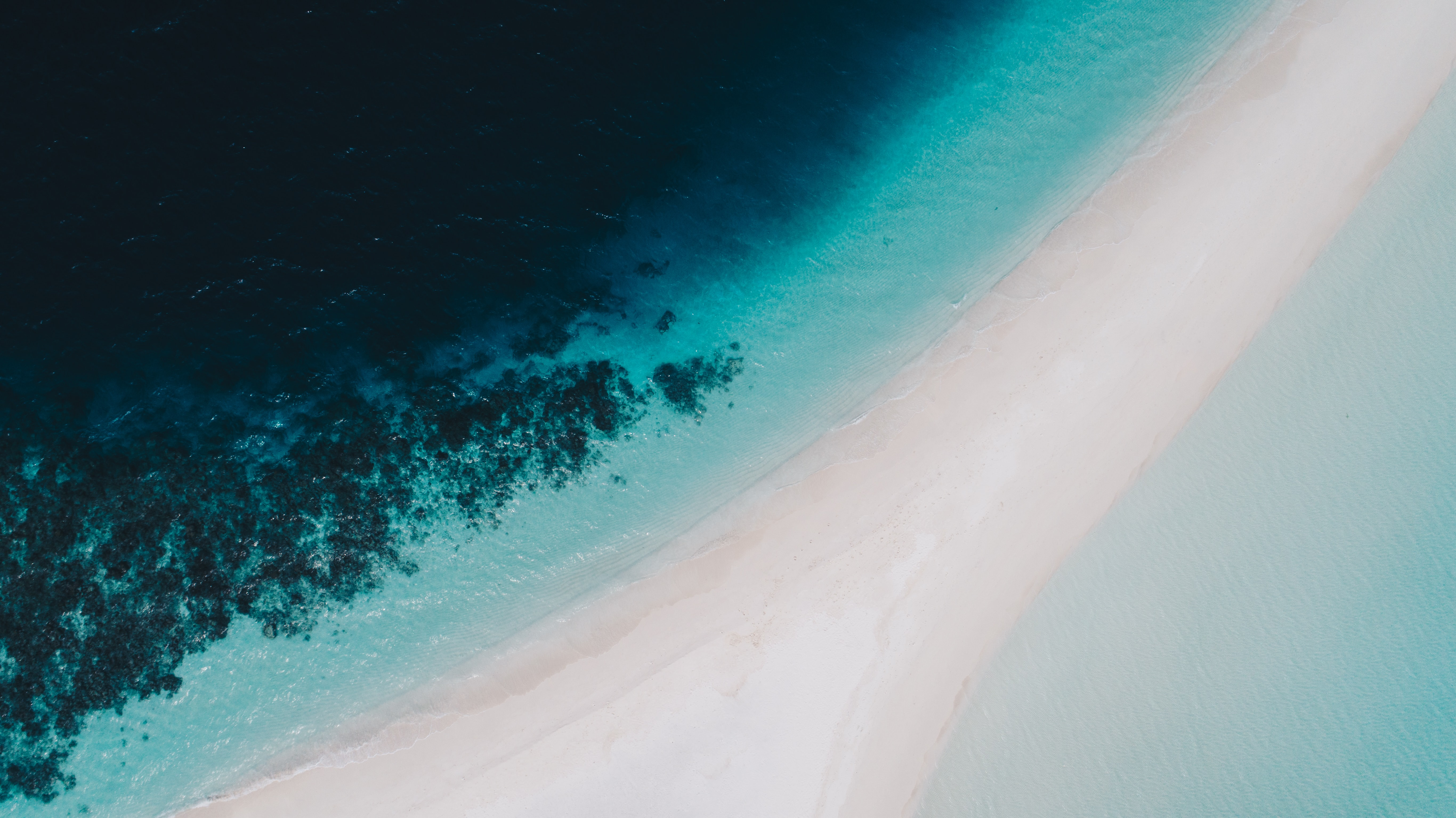 top view photo of sea shores