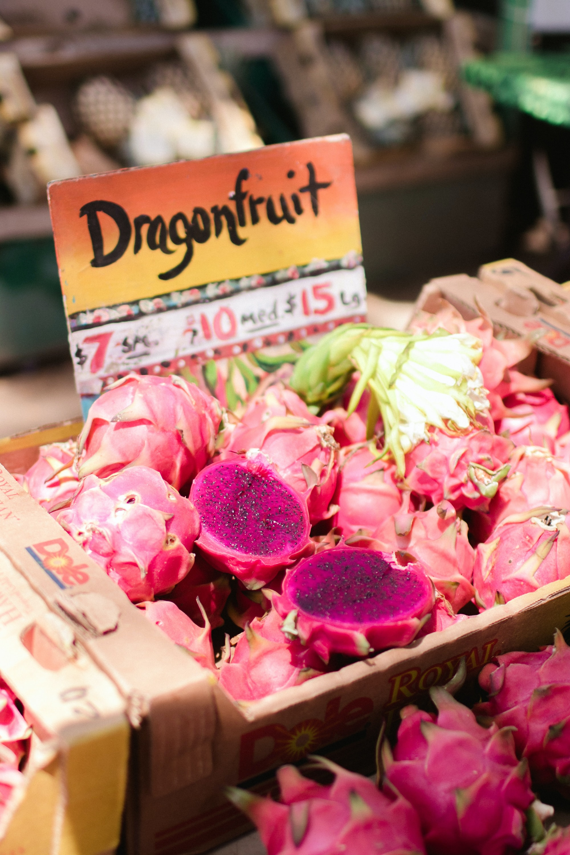 Dragon fruit signage