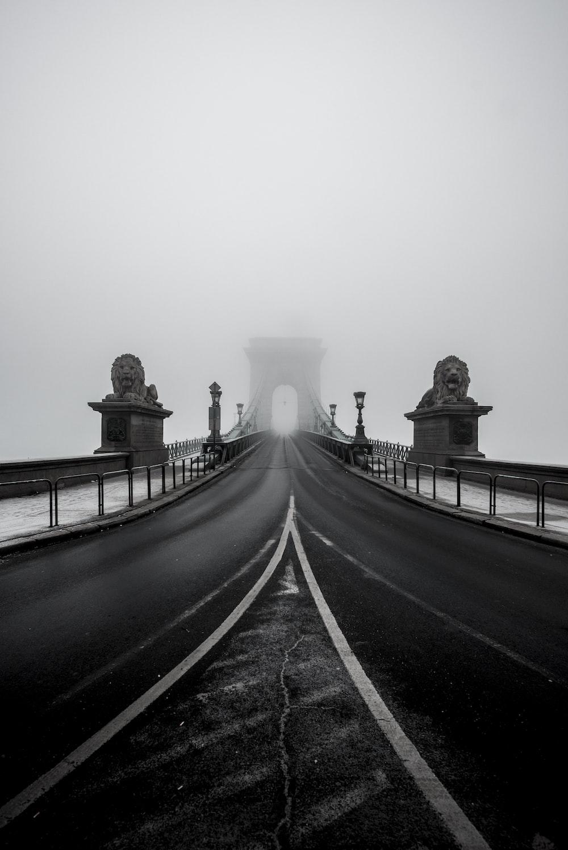 bridge with lion statues