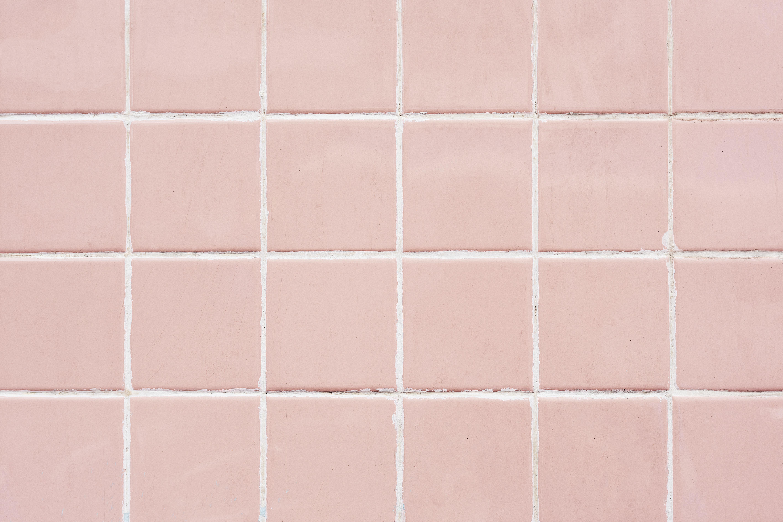 pink tile wall