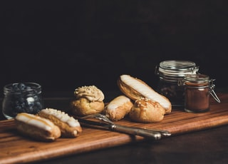 breads on brown wooden table