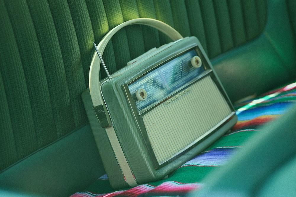 gray cassette radio