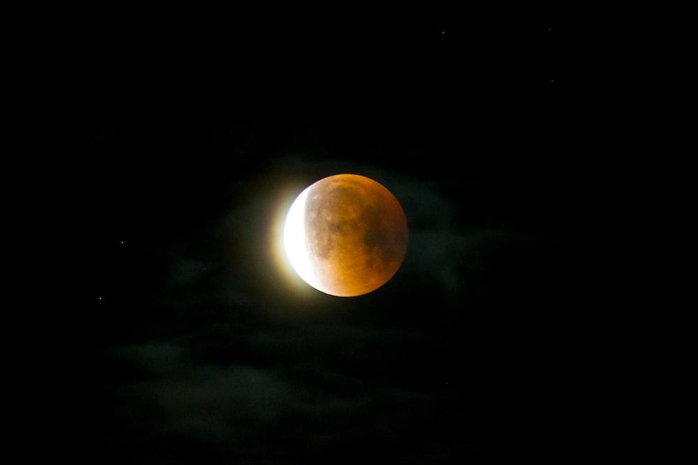 moon against light