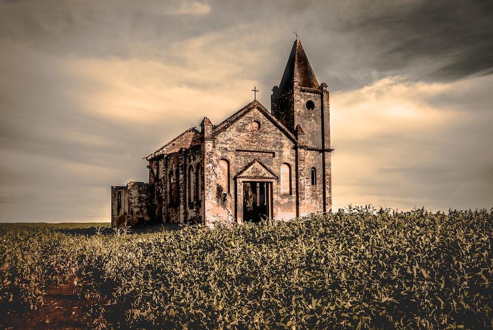 landscape photo of church