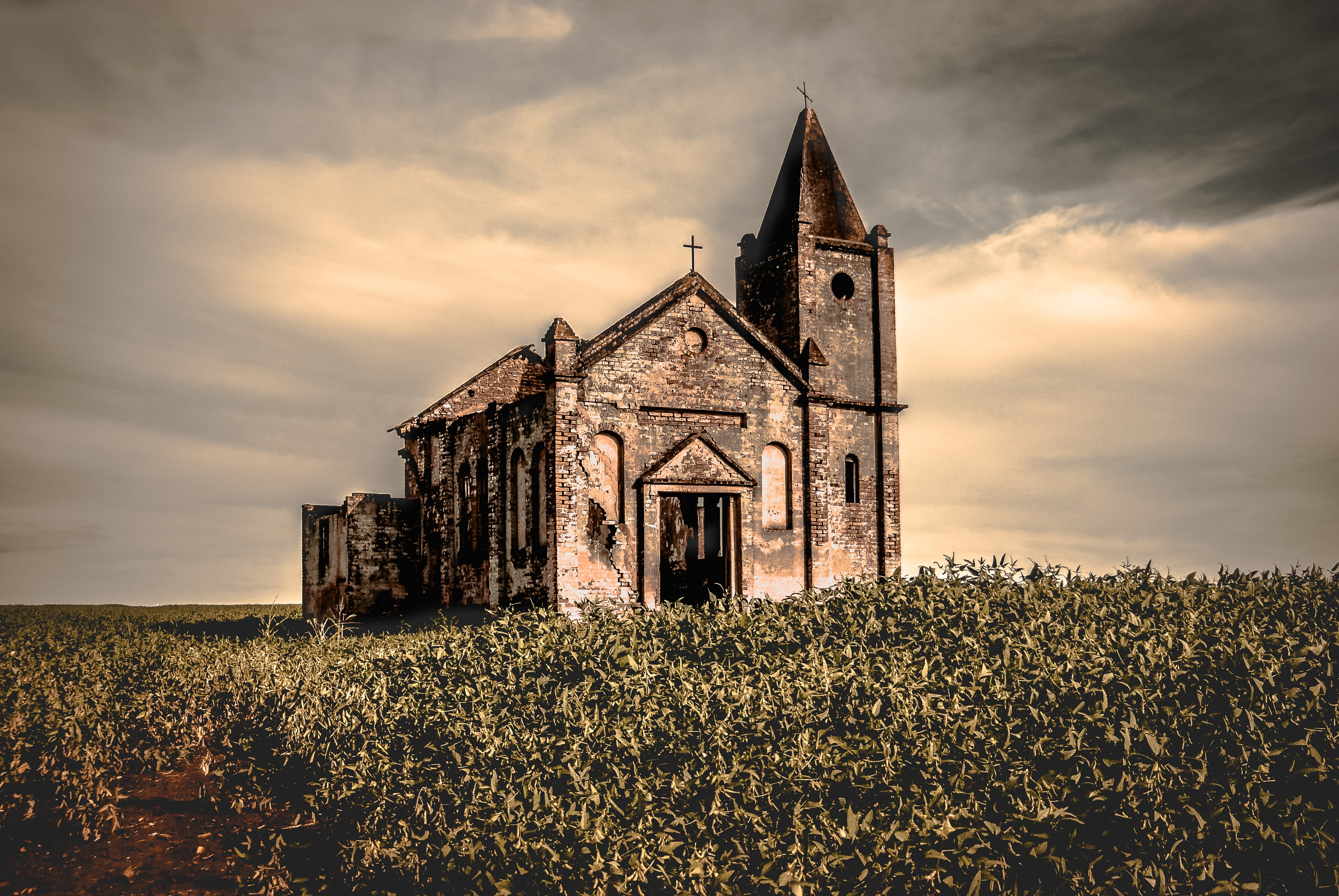 landscape photo of church