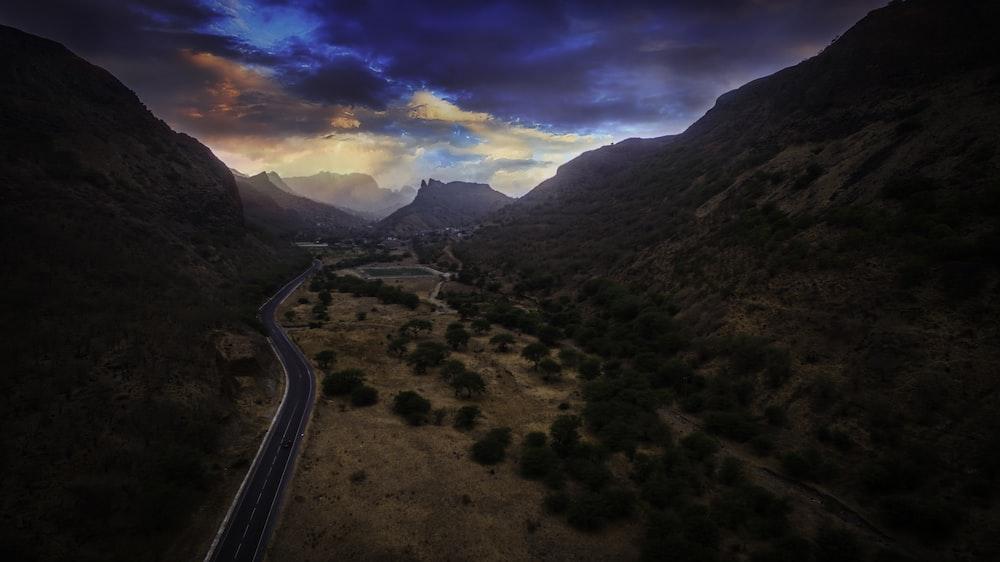 pathway through mountain