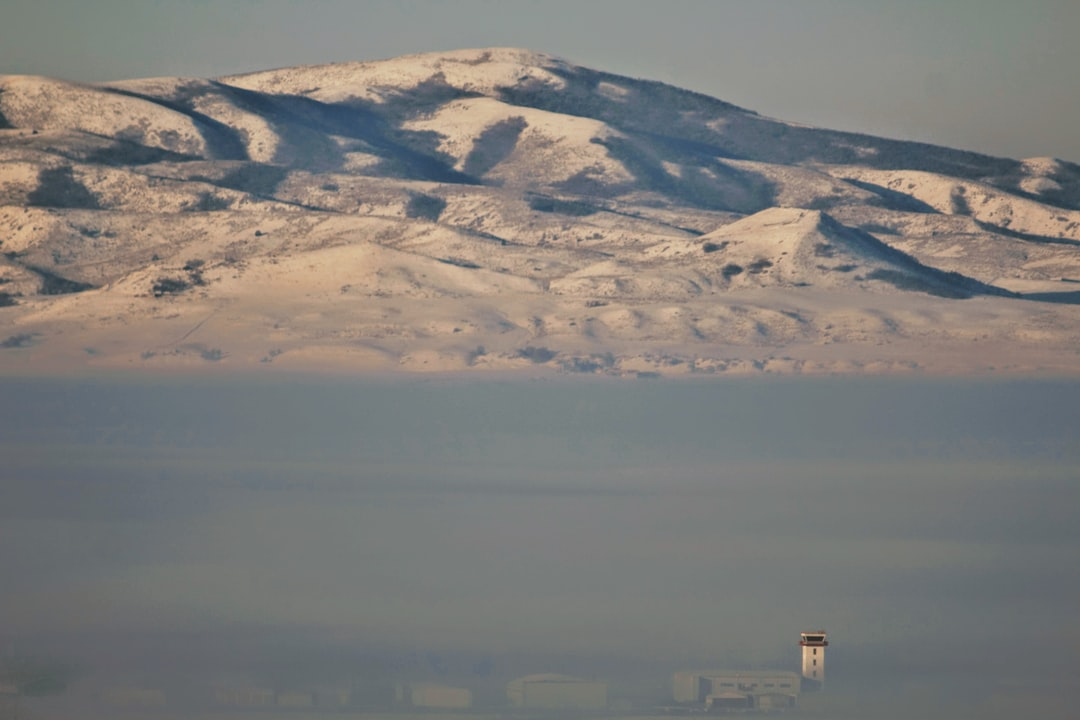 On a foggy day, I looked over the valley and saw the air traffic control tower rising above the fog.  In Northern Utah, we get bad inversions and the nasty air just hangs out for weeks at a time.