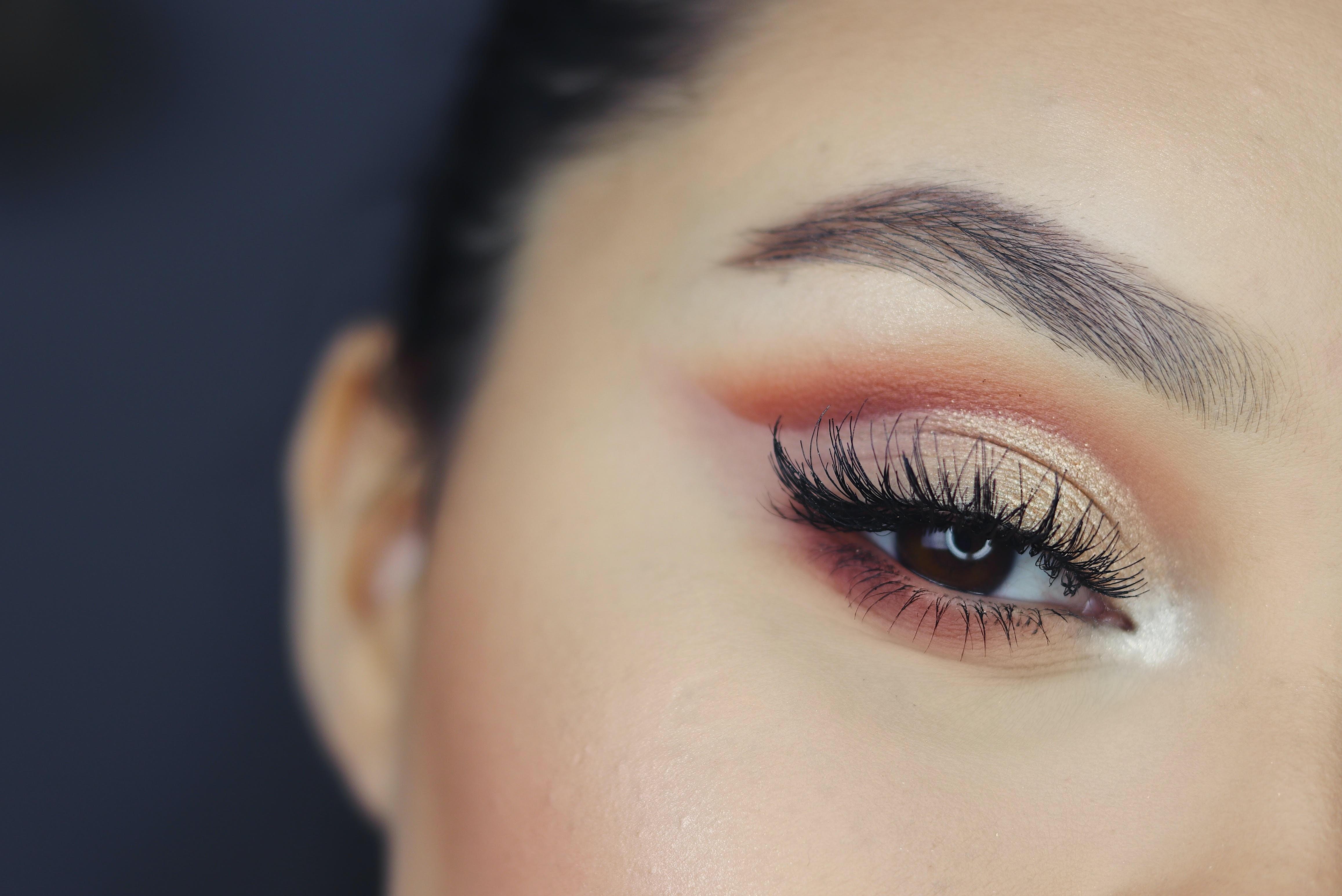 woman with black mascara