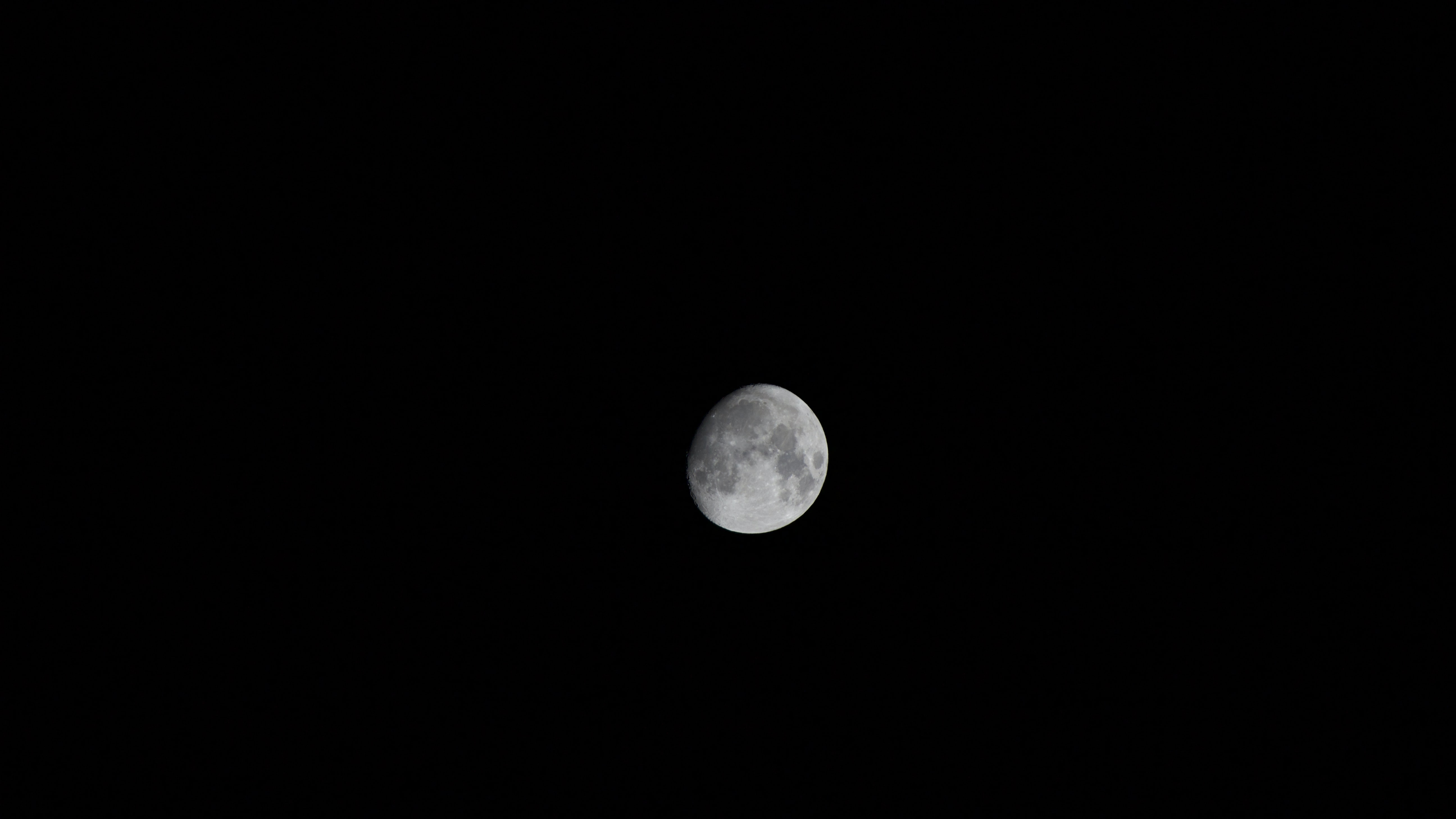 moon during nighttime