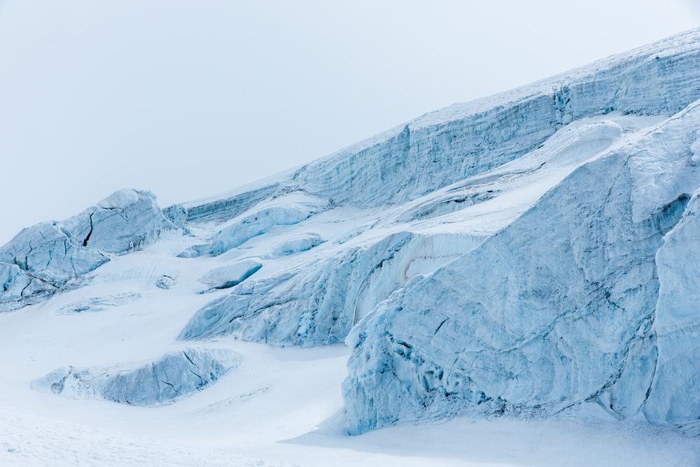 glaciers during daytime