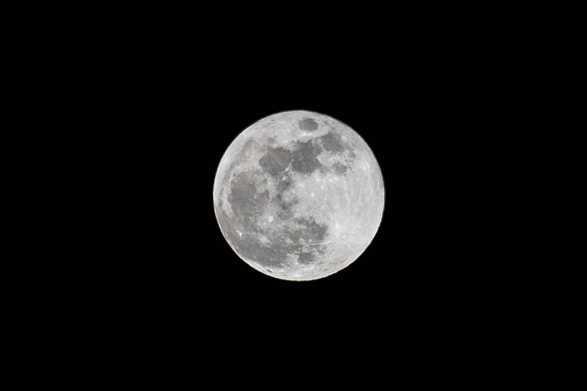 photograph of full moon