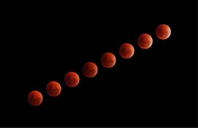 eight blood moon illustrations lunar teams background