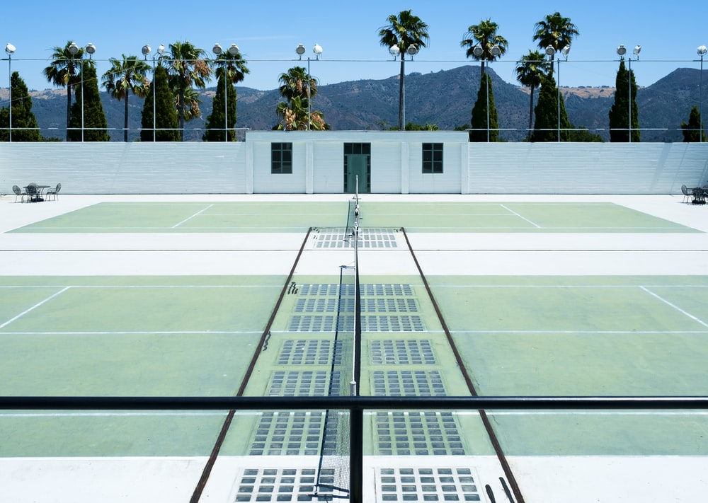 tennis court 3D illustration