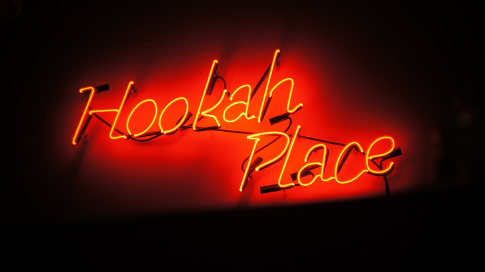 Hookah Place neon signage