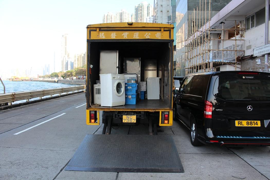 Umzugswagen Foto von Unsplash