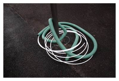 green and white coated cables florence zoom background