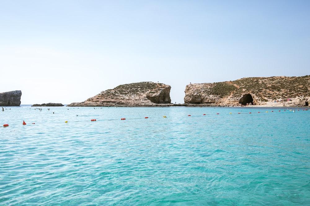cave beside sea