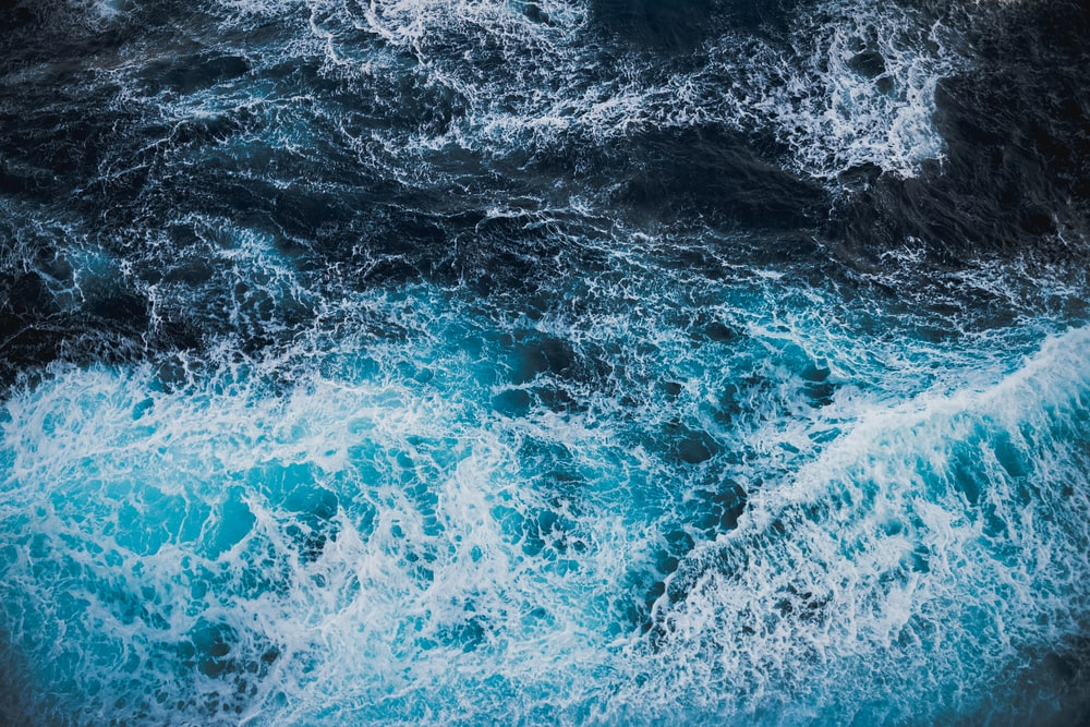 photo of rough water