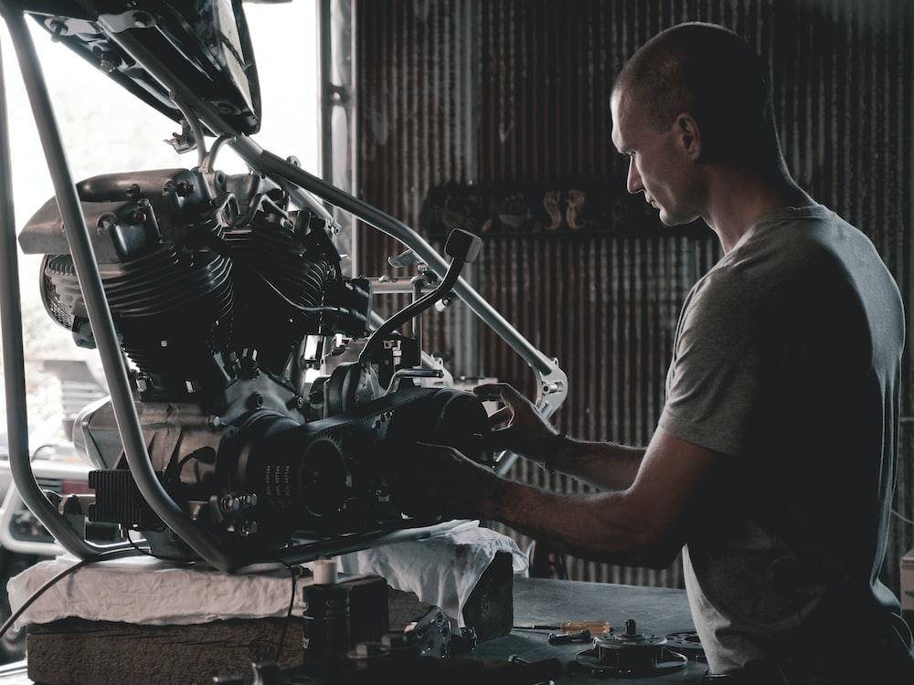 man holding engines