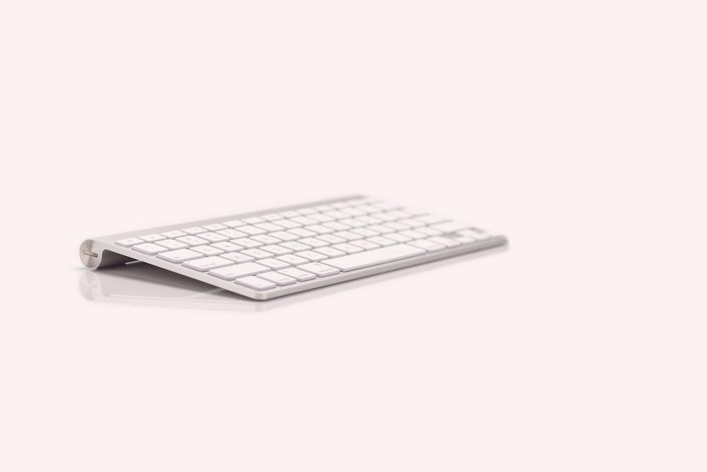 Apple wireless keyboard 1 against white background