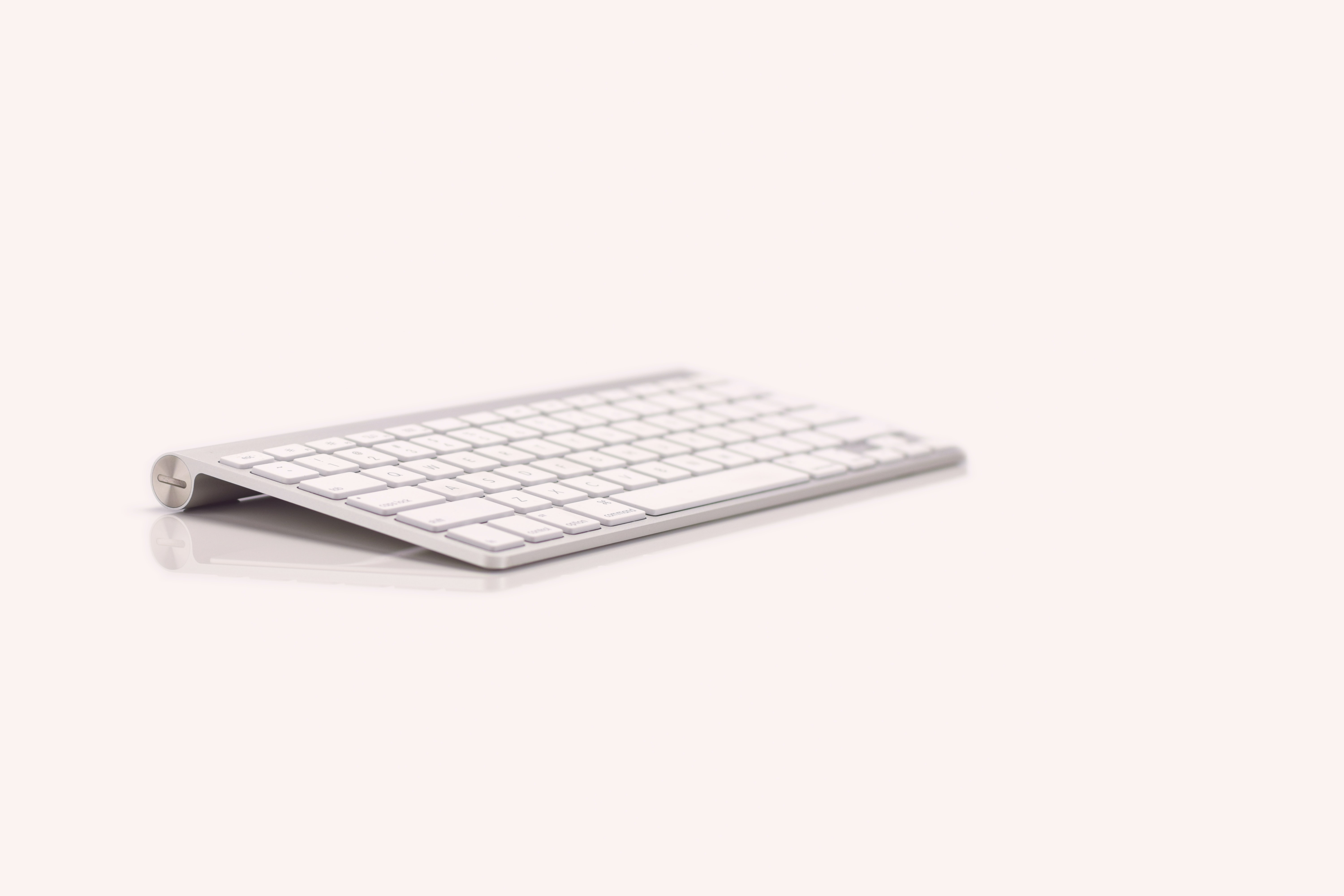 Apple wireless keyboard 1 against white background