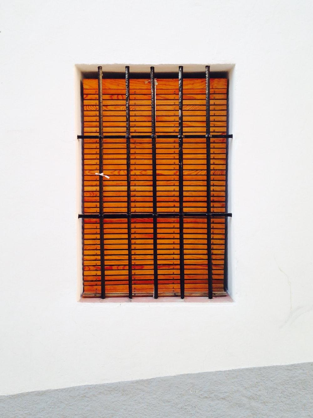 black metal window frame