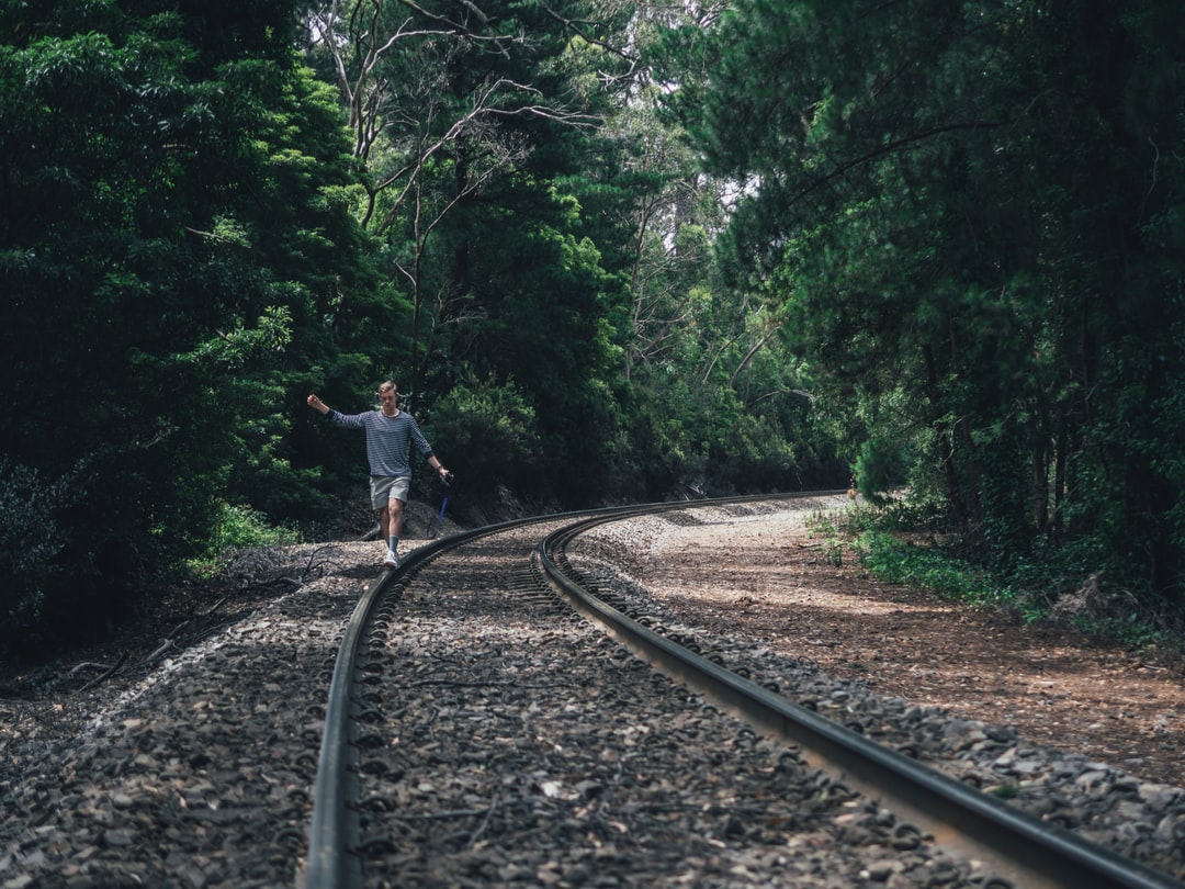 Tubo and I went exploring through beautiful Stirling, South Australia to see where these train tracks led. Practicing various focussing methods, we had a good laugh playing around on these tracks with no trains in sight!