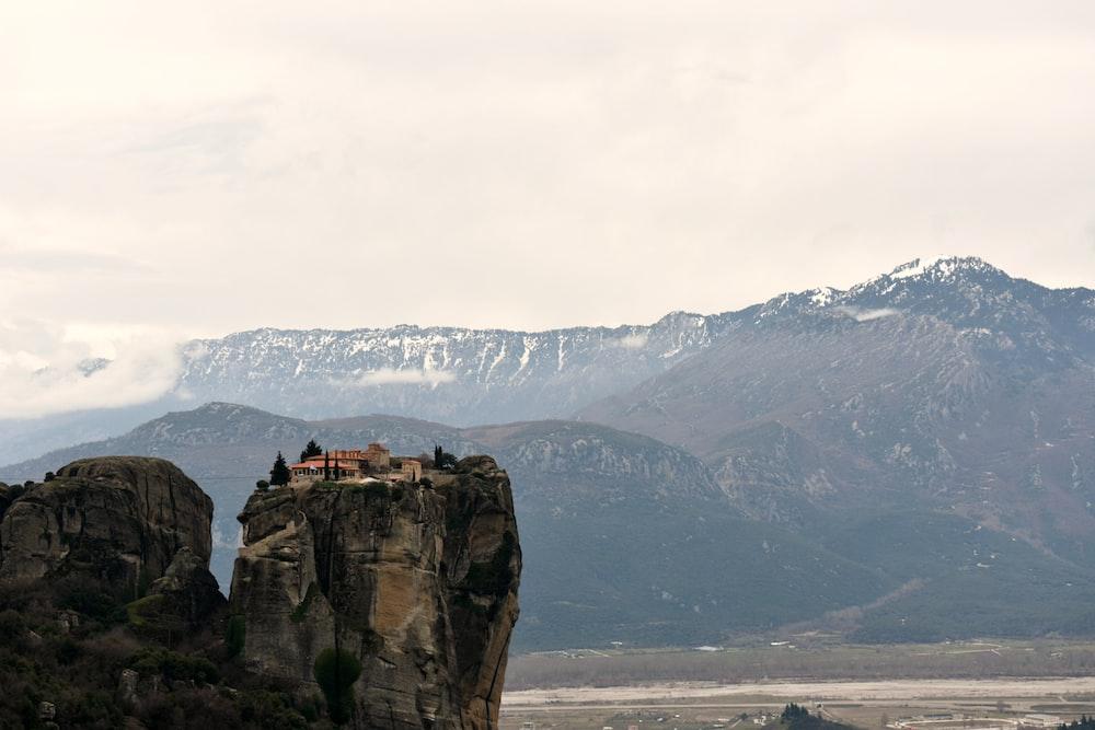 cliff taken under white clouds