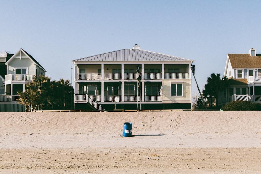 white 3-storey house